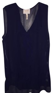 Laundry by Shelli Segal Sheer Flowy Top Navy blue