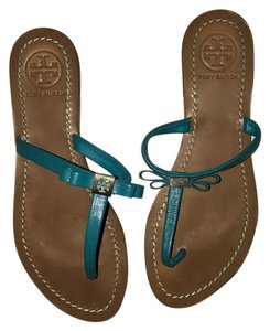 Tory Burch Teal Blue Sandals
