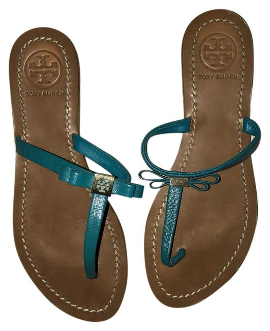 Tory Burch Teal Blue Sandals Size US 7 Regular (M, B) Tory Burch Teal Blue Sandals Size US 7 Regular (M, B) Image 1