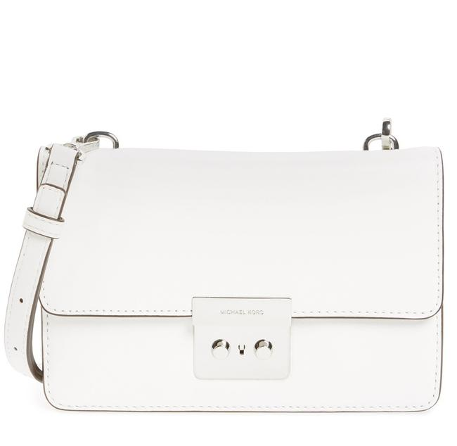 Item - Small Sloan White Leather Cross Body Bag