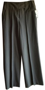 Larry Levine Stretch Polyester Rayon Trouser Pants DB Grey
