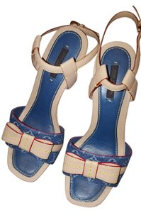 Louis Vuitton Denim Platform Sandals