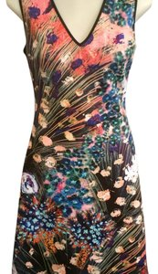 Clover Canyon short dress multi Neoprene Watercolor Floral on Tradesy