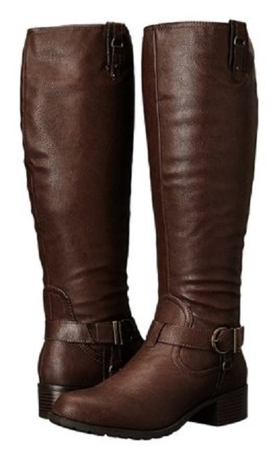 Rampage Brown Buckle Accents Boots/Booties Size US 7.5 Regular (M, B) Rampage Brown Buckle Accents Boots/Booties Size US 7.5 Regular (M, B) Image 1