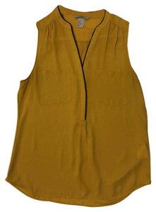H&M Top mustard, black