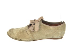 Lanvin Lace Up Oxfords Beige Flats