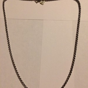 David Yurman ON SALE - David Yurman Medium Box Chain Necklace with 14k gold Logo