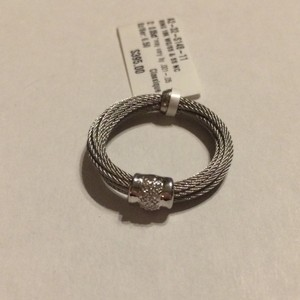 Charriol ON SALE - Charriol 18k White Gold/Sterling Diamond Cable Ring