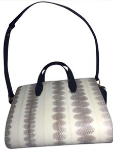 Alexander Wang Satchel in Pelican Black and Cream Snake