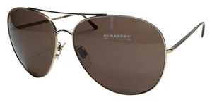 Burberry NEW BURBERRY GOLD AVIATOR SUNGLASSES BE 3051 1002/13 FREE SHIPPING