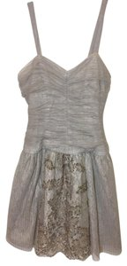 Anna Sui Embroidered Lace Tulle Ruched Dress