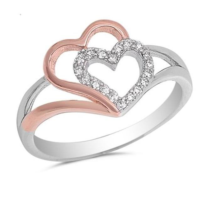 9.2.5 White Adorable Sapphire Double Heart Knot Size 6 Ring 9.2.5 White Adorable Sapphire Double Heart Knot Size 6 Ring Image 1