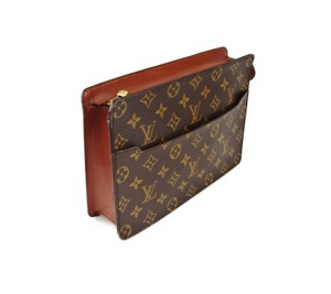 Louis Vuitton Homme Brown Clutch
