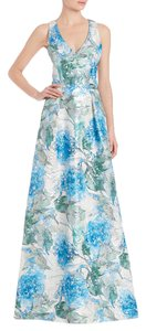 Theia Jacquard Ball Gown Gown Watercolor Dress