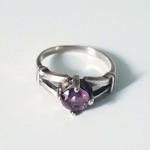 Other 925 Sterling Silver Purple Amethyst Stone Ring, Size 8
