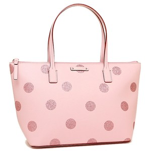 Kate Spade Zip Top Shimmery Glitter Tote in Pink