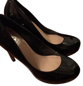 Vince Camuto Black smooth patent Platforms