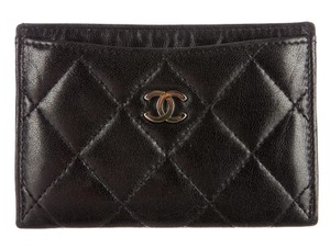 Chanel Wallet Business Credit Card Case Holder Lambskin Quilted Classic