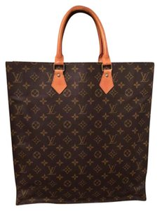 Louis Vuitton Monogram Sac Plat Vintage Tote in Brown Monogram