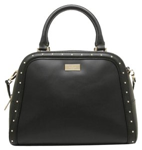 Kate Spade Satchel in Black, 14k gold plated hardware