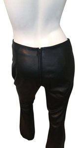 West Coast Leather Boot Cut Pants Black