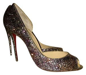 Christian Louboutin Never Been Worn Silver/Rose Gold Pumps