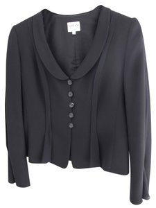 Armani Collezioni Jacket Dressy Jacket Organza Mix Classic Button Down Shirt Black