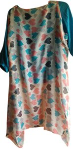 Other Valentines Hearts Sheer Kimona Tunic