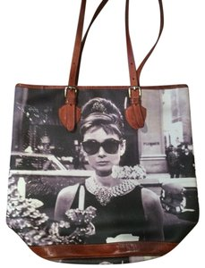 Bagghy Leather purse-Audrey Hepburn Tote in genuine leather