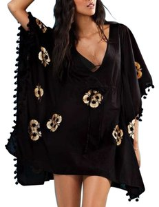 Other RESERVED Victoria's Secret Black & Gold Print Kaftan