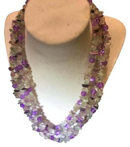 Anna's Art Stunning 4-Row Spring Gemstones Necklace