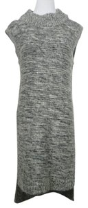 INTERMIX short dress Gray Wool Cashmere Knit Tunic on Tradesy