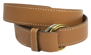 Herms Hermes Black Leather H Buckle Belt