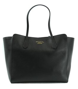 Gucci 354397 Swing Leather Tote in Black