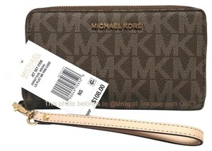 Michael Kors SALE! NWT MK Monogram Signature Logo Large Phone Case Wristlet Wallet