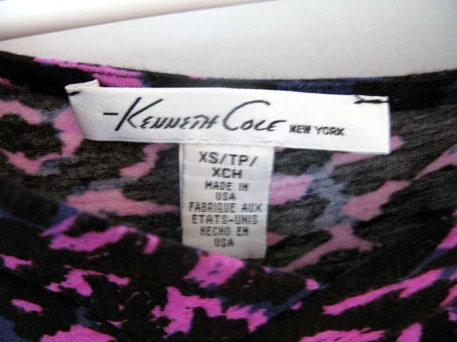 Kenneth Cole Cowl Animal Top pink purple leopard print
