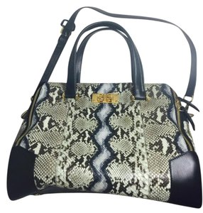 Furla Satchel in Leather with Python
