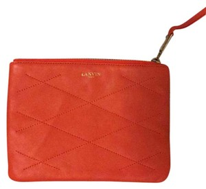 Lanvin deep orange Clutch