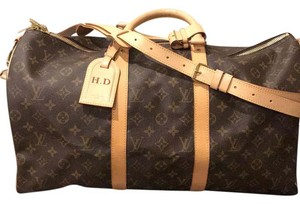 Louis Vuitton Monogram Print Travel Bag