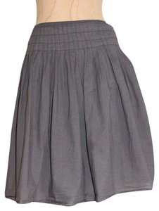 James Perse Pleated Summer Casual Skirt GRAY