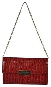 Aspinal of London Womens Purse Textured Handbag Casual Red Clutch