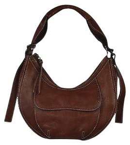 BCBGMAXAZRIA Textured Leather Hobo Bag