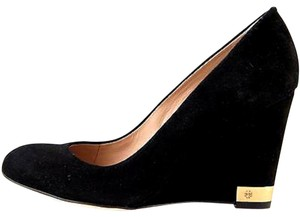 Tory Burch Designer Black Wedges