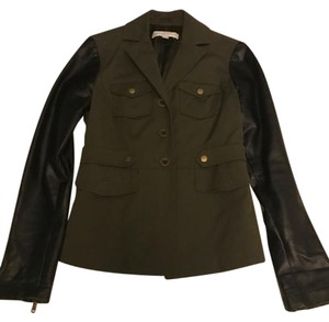 New York & Company Faux Leather Military Jacket