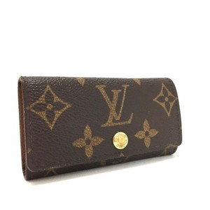 Louis Vuitton Signature Monogram Multicles PM Luxury 4 Ring Key Case