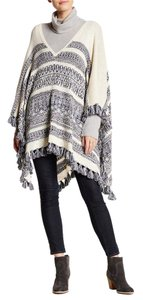 Calypso St. Barth Knit Blend Cover Up Fringe Striped Tribal Cape