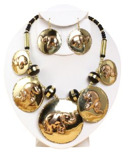 Boutique 9 Brass & Copper Elephant Jewelry Set ...100% Exotic, 100% you!