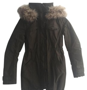 Abercrombie & Fitch Parka Faux Fur Hooded Winter Military Jacket