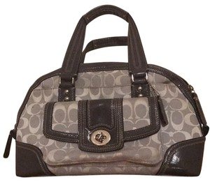 Coach Satchel in Light grey