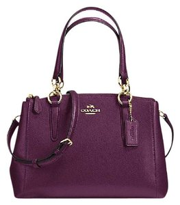 Coach Carryall 36704 Satchel in plum